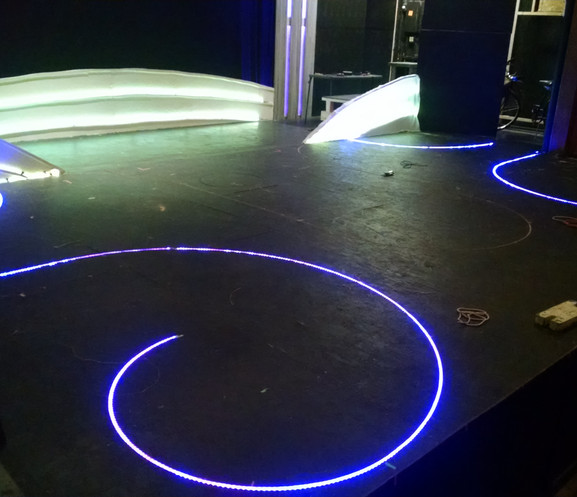 FLEXIBLE LED TAPE INSTALLED IN CDX SHOW DECK
