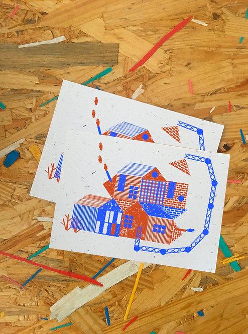 postkaart set van 3 PLUK