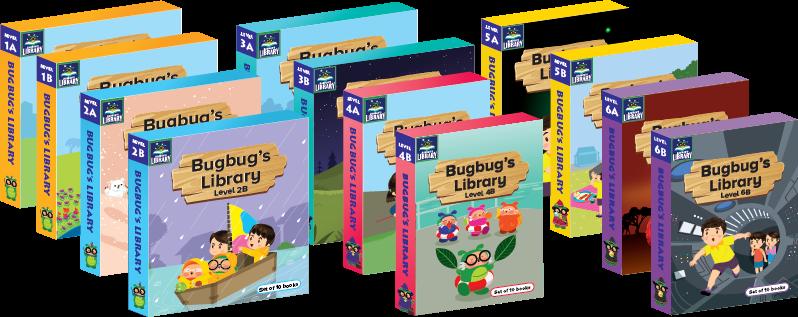 Bugbug's Library - 6個級別, 共12套 (120本)