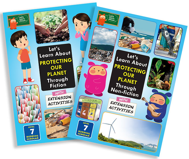 Let's Learn About Protecting Our Planet (Fiction and Non-Fiction兩本) 適用於初中學生