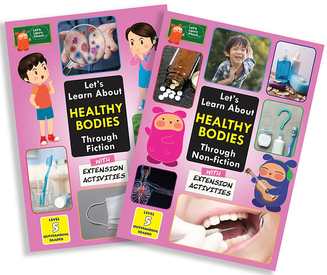 Let's Learn About Healthy Bodies (Fiction and Non-Fiction兩本) 適用於小五學生