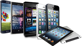Tablets and phone devices.