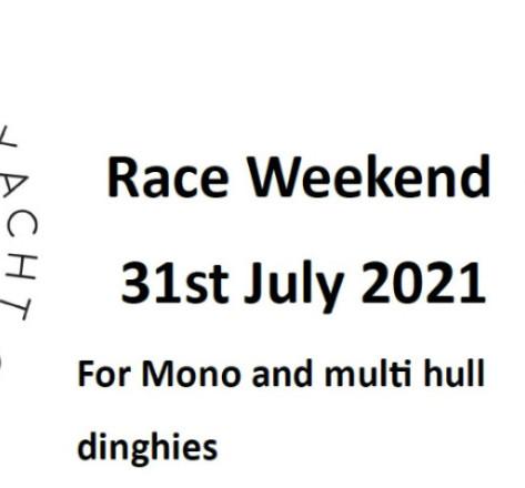 MYC Dinghy Race Weekend - 5 Weeks to go !!!!