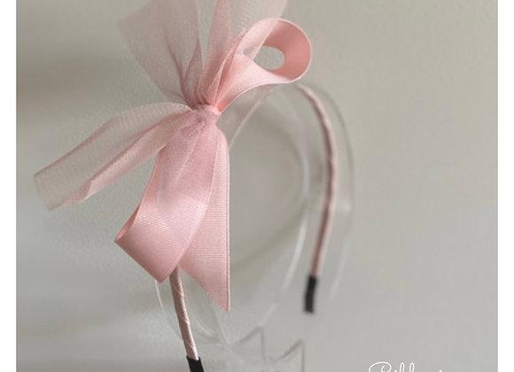 Pink Tulle Bow Headband