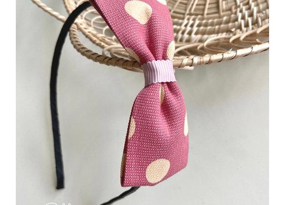 Pink Dot Bow Headband
