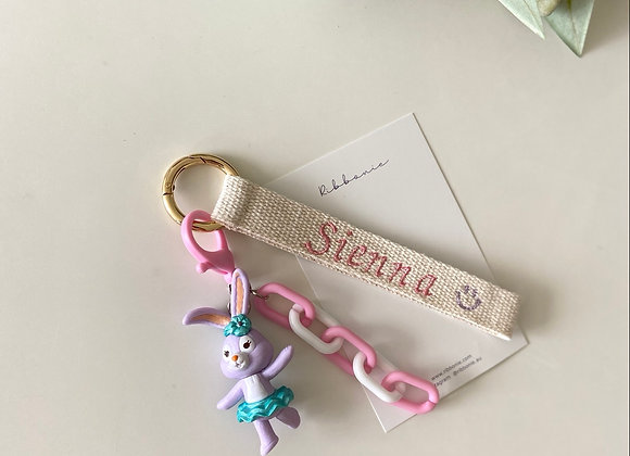 Ribbonie Key Ring - Purple Rabbit