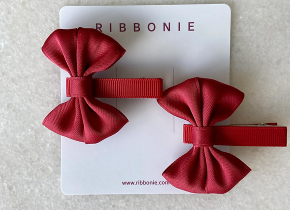Two Small Butterfly Bow Clip Set