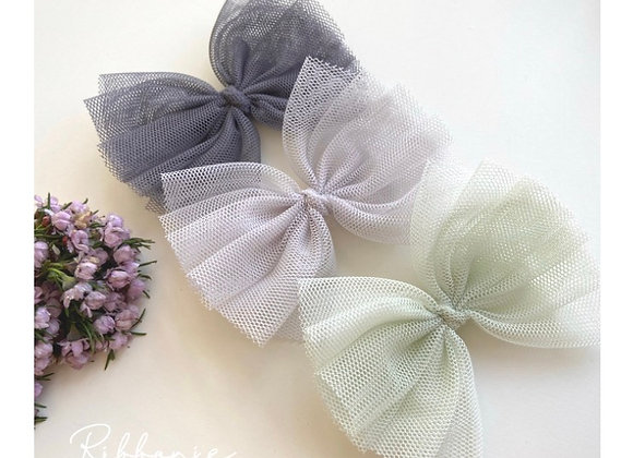Medium Baby Cute Tulle Bow Soft Headband 2