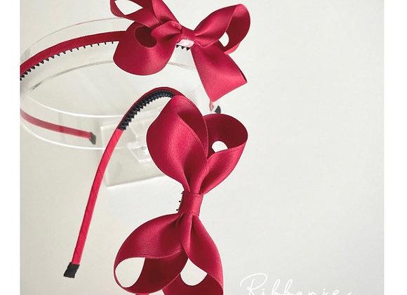Red Twist Bow Headband