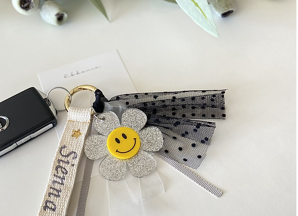 Ribbonie Key Ring - Smile Flower