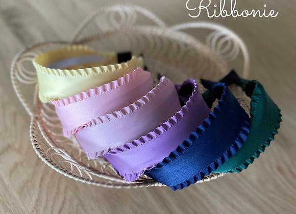 Frill silky headband