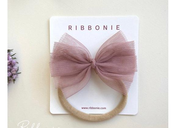 Medium Baby Cute Tulle Bow Soft Headband 2