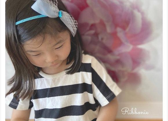 Jewel On Tulle Bow Headband 1