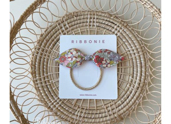 Floral Bunny Ear Hair Tie