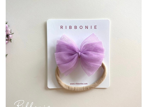 Baby Cute Tulle Bow Soft Headband 2