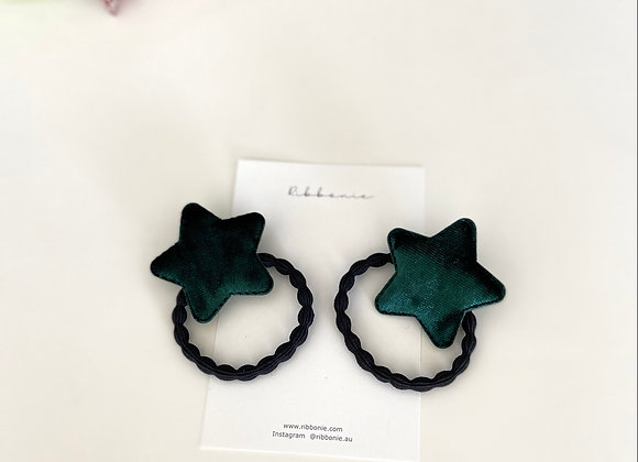 Velvet Star Hair Tie Set