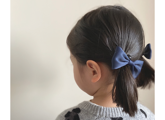 School Girl Hair Pieces - two small bow hair ties