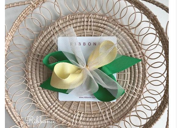 Lemon Lime Tulle Bow