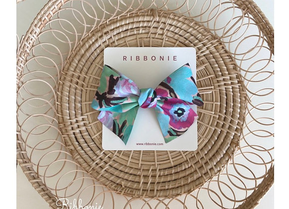 Summer Flower Bow  Clip