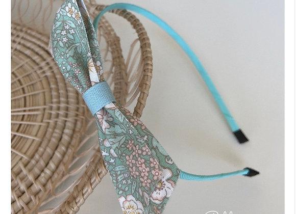 Green Flower Bow Headband