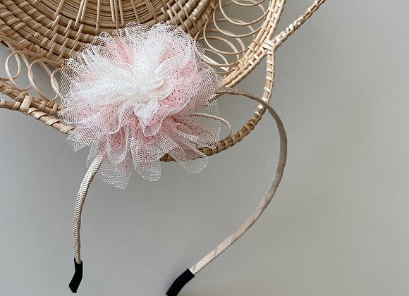 Mixed Tulle Pompom Headband