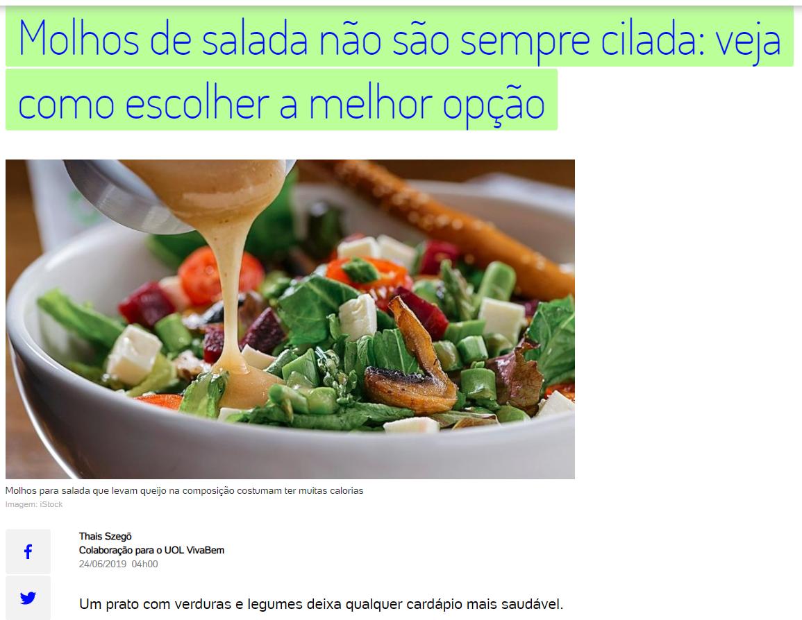 UOL VivaBem - Molhos de salada (24 de Ju