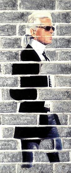 Oeuvre KARL LAGERFELD BRICK by Carole Benichou. Dimensions:80X120CM