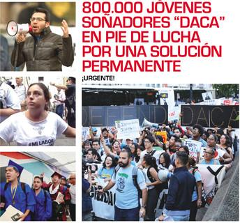 """800,000 Jóvenes soñadores """"DACA"""" en pie de lucha por una solución permanente #Urgente"""