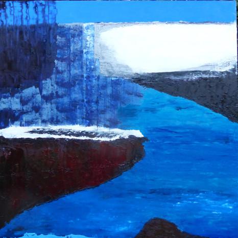 129 Blue Lagoon 100x100 cm 39.5x39.5 in
