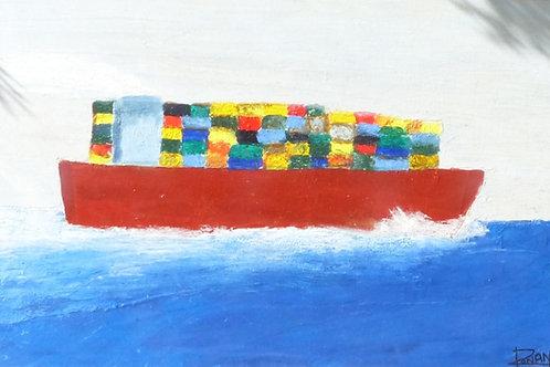 Container ship San Francisco