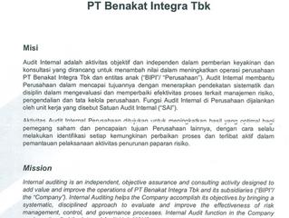 Piagam Audit Internal / Internal Audit Charter