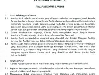 Piagam Komite Audit
