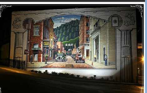 Welch 1920's.  This mural by Tom Acosta is archived in the Library of Congress, Photographed by