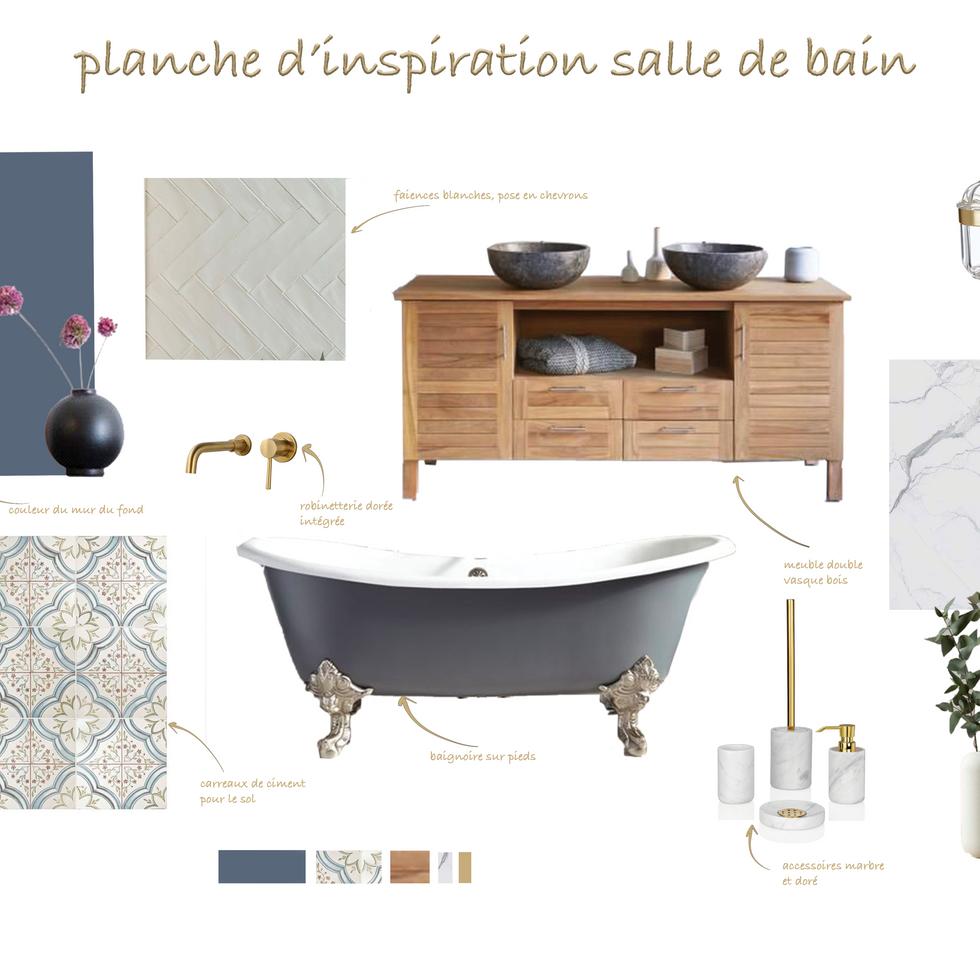 Planche d'inspiration salle de bain