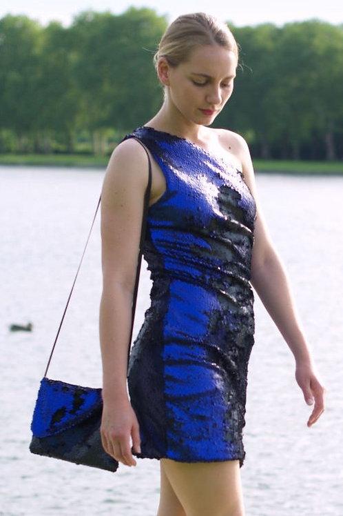 SAC Paillettes noires & bleues