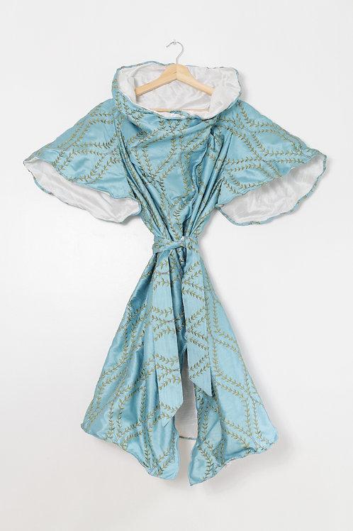 SCULPTURE DRESS Blue Lotus