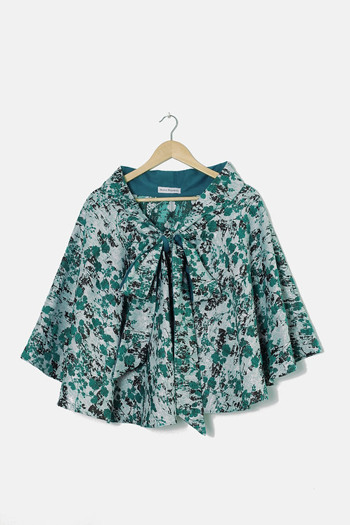 THE CAPE SKIRT Brocard in flowery green