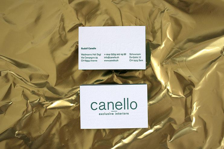 canello exclusive interiors business ca.jpgds letterpress gold foil swiss graphic design typography