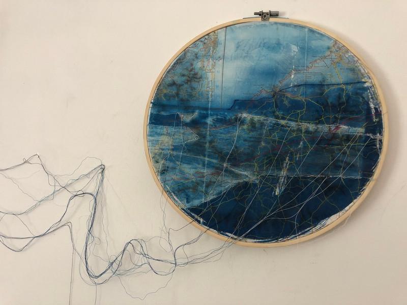 Cornwall cyanotype