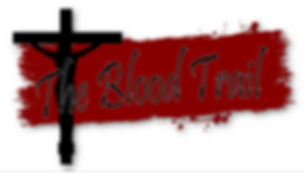 blood trail artwork with white backgroun