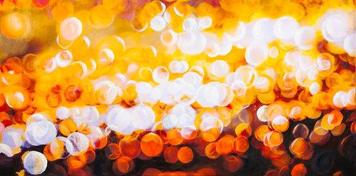 Sun Glitter X | 168 cm (W) x 84 cm (H) x 3.5 cm | Acrylic on Canvas