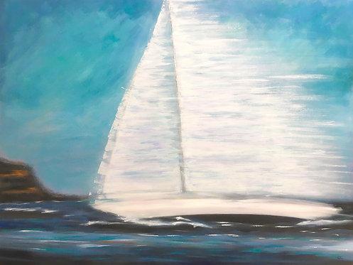 Rounding The Heads | 91 cm (W) x 91 cm (H) x 3.5 cm | Acrylic on Canvas