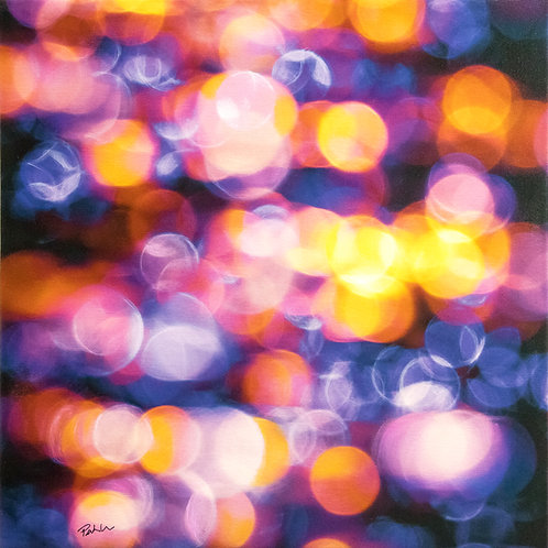 Sun Glitter VI | 46 cm (W) x 46 cm (H) x 3.5 cm | Acrylic on Canvas