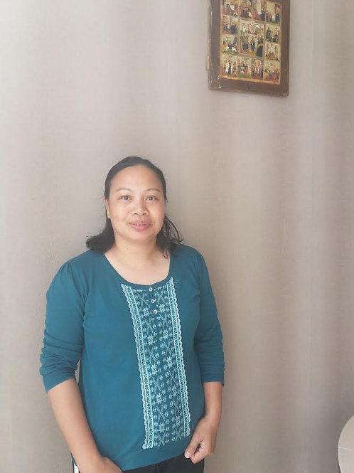 Мелоди,  39 лет. Домработница-филиппинка