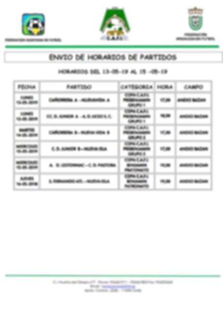 PREBENJAMIN Y BENJAMIN 13 AL 17 DE MAYO_