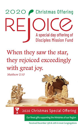 2020 Christmas Offering bulletin front -
