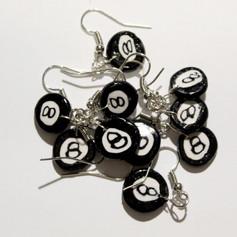 8-Ball Earrings and Chain Set