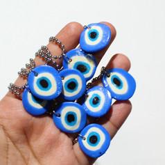 Evil Eye Earrings and Chain Set: