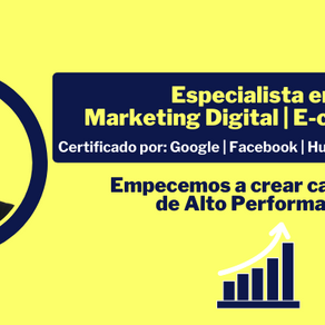Especialista en: Marketing Digital & Ecommerce