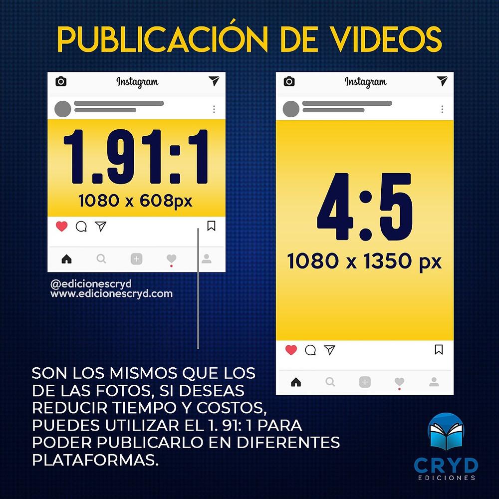 Medidas de Videos Para Instagram